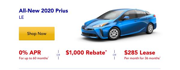 New 2020 Prius Special