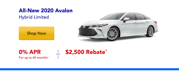New 2020 Avalon Hybrid Special