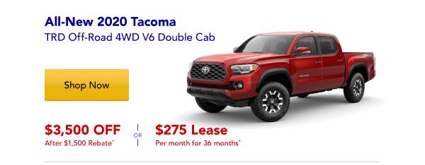 New 2020 Tacoma Special