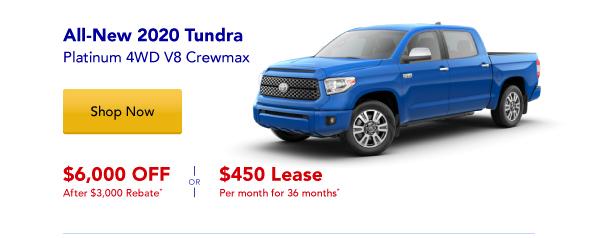 New 2020 Tundra Special