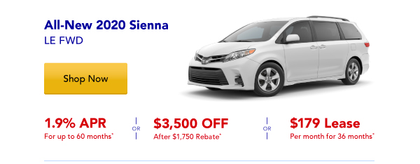New 2020 Sienna Special