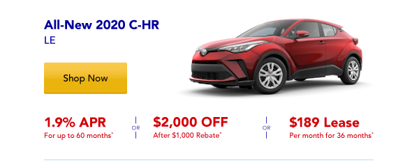 New 2020 C-HR Special