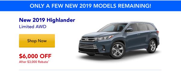 New 2019 Highlander Special
