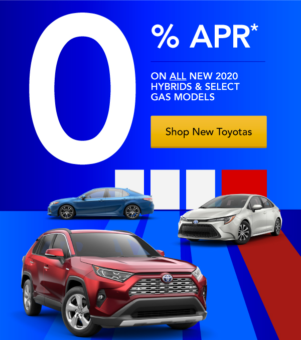 0% APR for 60 Months on Select New Toyotas!
