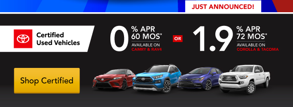 Certified Used Vehicles - Special APR & 90-Deferred Payment