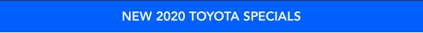 New 2020 Toyota Specials