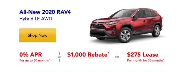 New 2020 Rav4 Hybrid Special