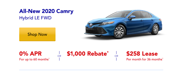 New 2020 Camry Hybrid Special