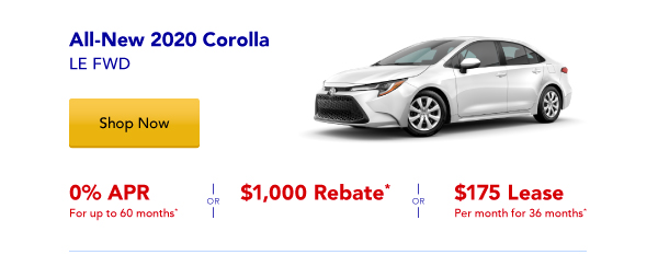 New 2020 Corolla Special