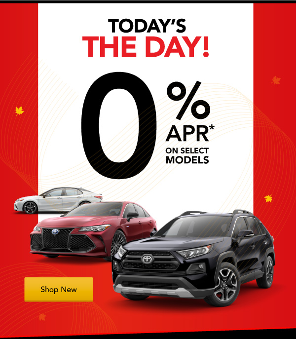 Today's the Day at Jay Wolfe Toyota