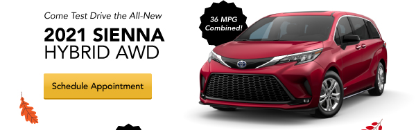 Come Test Drive the All-New 2021 Sienna