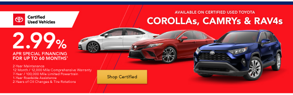 Certified Used Vehicle Specials