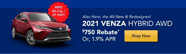 2021 Venza is Here!