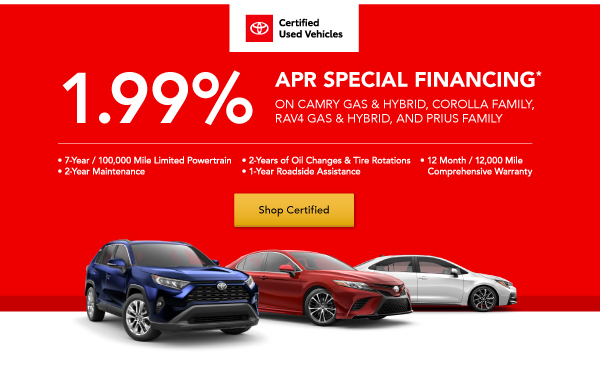 Certified Used Vehicle Financing