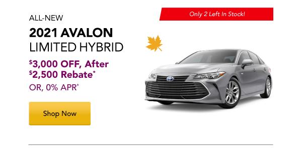 2021 Avalon Hybrid